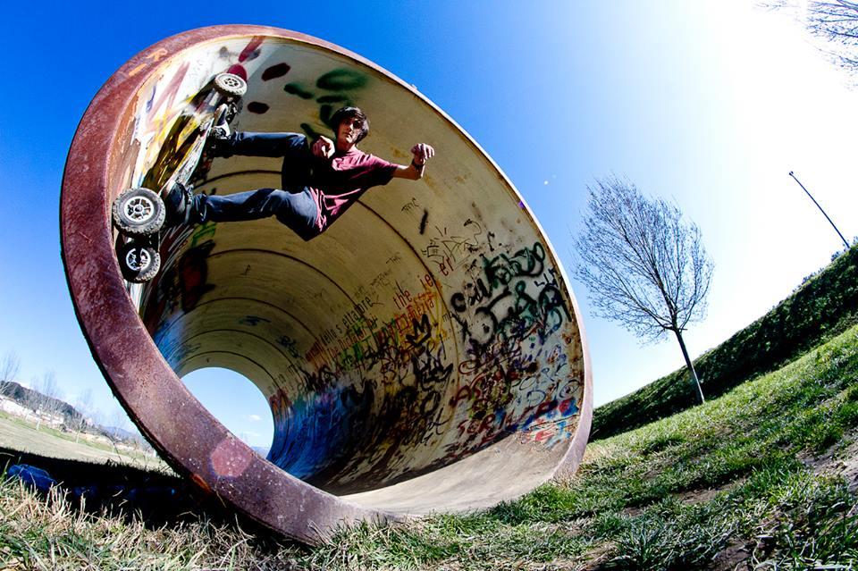 skate longboard downhill